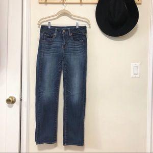 American Eagle blue denim straight leg jeans 6